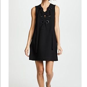 Cute Summer Shift Dress with Lace-Up Front